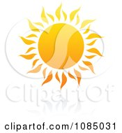 Clipart Hot Summer Sun And Reflection 1 Royalty Free Vector Illustration