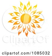 Clipart Hot Summer Sun And Reflection 10 Royalty Free Vector Illustration