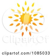 Clipart Hot Summer Sun And Reflection 11 Royalty Free Vector Illustration