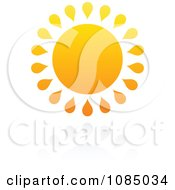 Clipart Hot Summer Sun And Reflection 3 Royalty Free Vector Illustration