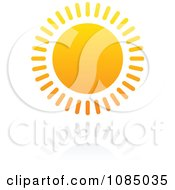 Clipart Hot Summer Sun And Reflection 4 Royalty Free Vector Illustration