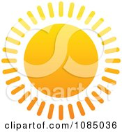 Clipart Hot Summer Sun With Straight Rays Royalty Free Vector Illustration