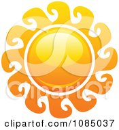 Clipart Hot Summer Sun With Wave Rays Royalty Free Vector Illustration
