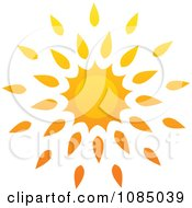 Clipart Hot Summer Sun With Petal Rays 2 Royalty Free Vector Illustration