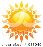 Clipart Hot Summer Sun With Fiery Rays 3 Royalty Free Vector Illustration
