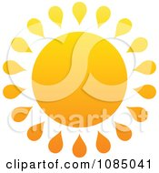 Clipart Hot Summer Sun With Drop Rays Royalty Free Vector Illustration