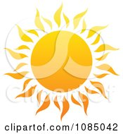 Clipart Hot Summer Sun With Fiery Rays 1 Royalty Free Vector Illustration