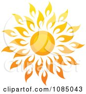 Clipart Hot Summer Sun With Petal Rays 1 Royalty Free Vector Illustration