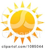 Clipart Hot Summer Sun With Triangle Rays Royalty Free Vector Illustration
