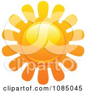 Clipart Hot Summer Sun With Petal Rays 3 Royalty Free Vector Illustration