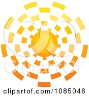 Clipart Hot Summer Sun With Vortex Rays Royalty Free Vector Illustration