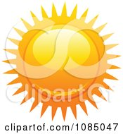 Clipart Hot Summer Sun With Fiery Rays 4 Royalty Free Vector Illustration