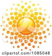Clipart Hot Summer Sun With Dot Rays Royalty Free Vector Illustration