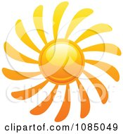 Clipart Hot Summer Sun With Spiral Rays Royalty Free Vector Illustration
