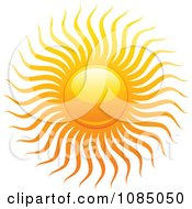 Clipart Hot Summer Sun With Fiery Rays 2 Royalty Free Vector Illustration