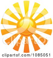 Clipart Hot Summer Sun With Long Rays Royalty Free Vector Illustration