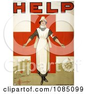 Nurse And Cross On An Australian Red Cross Society Poster Free Stock Illustration