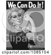 We Can Do It Rosie The Riveter In Black And White Royalty Free Stock Illustration by JVPD