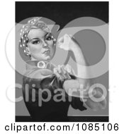 Rosie The Riveter In Black And White No Text Royalty Free Stock Illustration