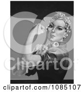 Rosie The Riveter Without Text In Black And White Royalty Free Stock Illustration