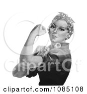 Rosie The Riveter On A White Background Black And White Royalty Free Stock Illustration