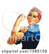 Rosie The Riveter Isolated On White Royalty Free Stock Stock Illustration