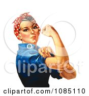 Rosie The Riveter Flexing Her Arm Muscles We Can Do It Royalty Free Stock Illustration by JVPD #COLLC1085110-0002