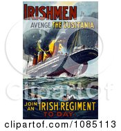 Irish Recruiting Poster To Avenge The Luistania Free Illustration