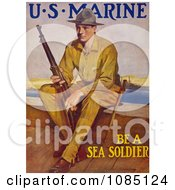 Marine Soldier With A Rifle Free Stock Illustration