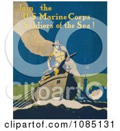 Soldier In A Boat Free Stock Illustration