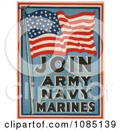 American Flag For Military Recruiting Free Stock Illustration