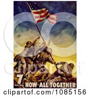 Raising The Flag At Iwo Jima Free Stock Illustration
