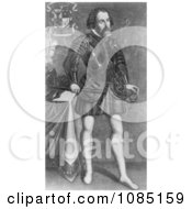 Hernando Cortes Royalty Free Stock Illustration