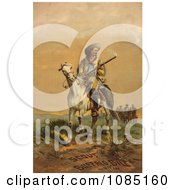 William F Cody Buffalo Bill Royalty Free Stock Illustration