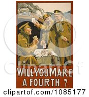 Soldiers Playing Cards Free Stock Illustration