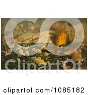 Battle Of Manila Bay Royalty Free Stock Illustration