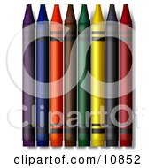 Colorful Crayons Clipart Illustration by Leo Blanchette