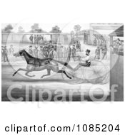 Trotting Horse John Stewart On His Twentieth Mile September 22nd 1868 Royalty Free Stock Illustration
