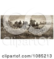 Soldiers And Horses Fighting In The Battle Of Chancellorsville Virginia On May 3rd 1863 Royalty Free Stock Illustration by JVPD