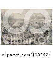 The Capture And Death Of Sitting Bull At Standing Rock Indian Reservation Free Stock Illustration