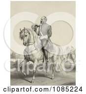 General James Garfield On A Horse Royalty Free Stock Illustration