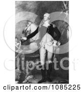 George Washington Standing Proud By A Horse Royalty Free Stock Illustration