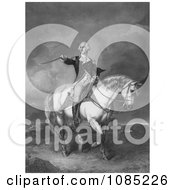 George Washington On Horseback Holding His Hat And Sword Royalty Free Stock Illustration