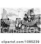 Surrender Of Cornwallis At Yorktown Royalty Free Stock Illustration