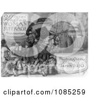 Official Program Woman Suffrage Procession Washington DC March 3 1913 Free Stock Illustration