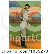 Vintage Detroit Tigers Baseball Card Of Ty Cobb Up For Bat Royalty Free Stock Illustration