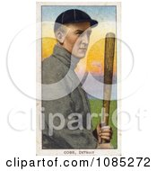 Vintage Baseball Card Of Detroit Tigers Baseball Player Ty Cobb Posing With A Bat Royalty Free Stock Illustration