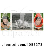 Vintage Baseball Card Of Charley OLeary And Ty Cobb Royalty Free Stock Illustration