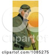 Vintage Baseball Card Of Tyrus Raymond Cobb Of The Detroit Tigers Up At Bat Royalty Free Stock Illustration