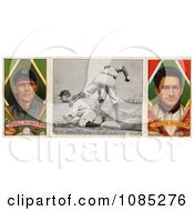Vintage St Louis Browns Baseball Card Of George Stovall And James Austin With A Center Photo Royalty Free Stock Illustration